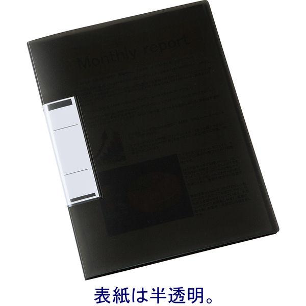 固定式クリアファイルA4 12P 黒