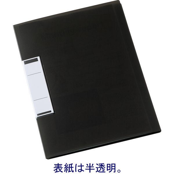 固定式クリアファイルA4 24P 黒
