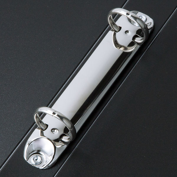 リングファイル A4縦 背幅27mm 黒