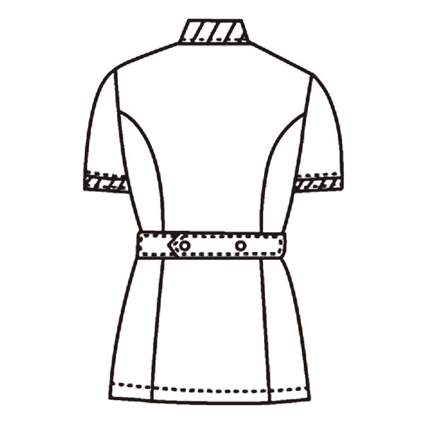KAZEN レディスジャケット半袖 (ナースジャケット) 医療白衣 サックスブルー(水色) LL 947-11(直送品)