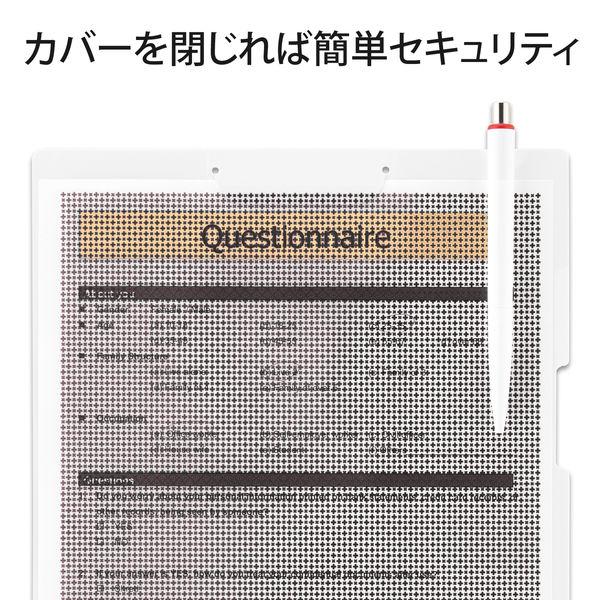 プラス クリップ付ボードホルダー カモフラージュ ホワイト FL-130CH(89483) 1枚