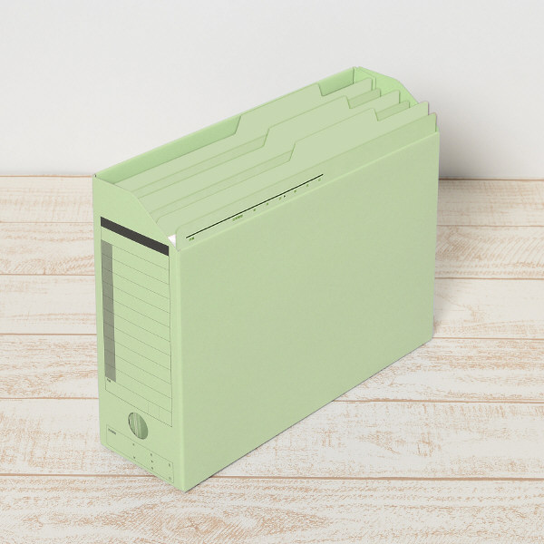 プラス 持ち出しフォルダー A4 グリーン FL-061PF 87136 1箱(100枚:10枚入×10袋)