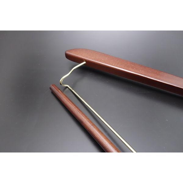 木製プレミアムハンガー クリップ付 1セット(50本:5本入×10セット)