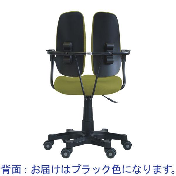 DUOREST コンフィー オフィスチェア ファブリック 肘付 ブラック DR-260SP(DBK) 1脚