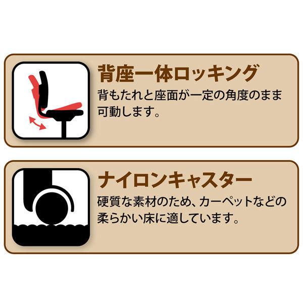 SEKI  レザーポケットコイルチェア2 オフィスチェア ハイバック レザー張り ブラック 1脚