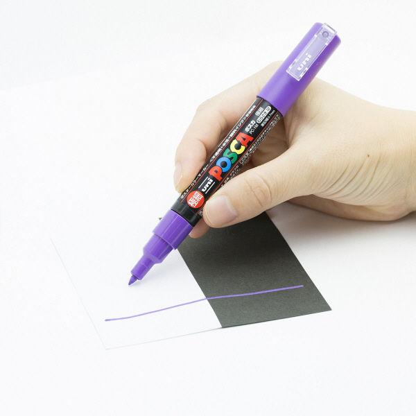 uniポスカ 極細 紫