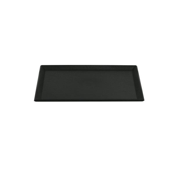 長角盆 ブラック 390×290mm