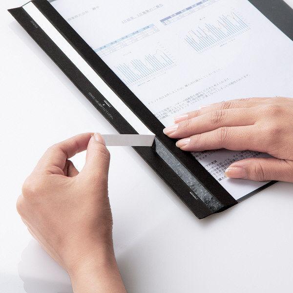 今村紙工 製本ファイル 折加工済み ブラック SFK-003 1セット(100冊)