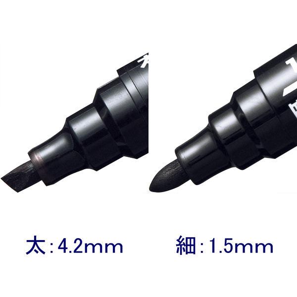 アスクル油性ペン 太/細ツイン 黒