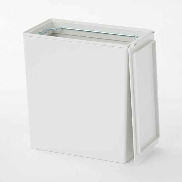 ... ポリプロピレンごみ箱・角型・袋止め付/小(約3L) 37556898