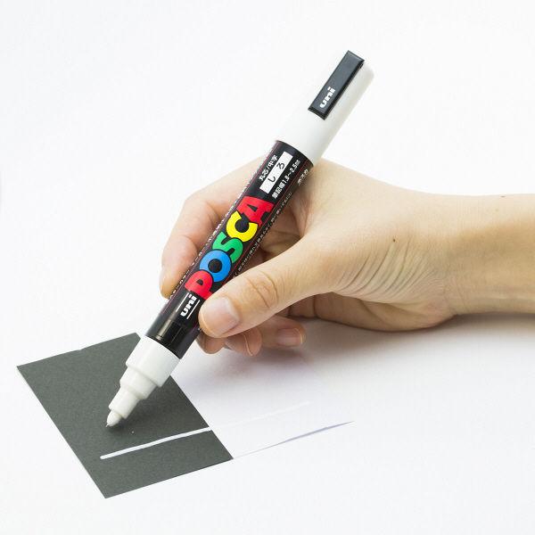 三菱鉛筆 ユニポスカ 中字 白 PC5M.1 1セット(5本)