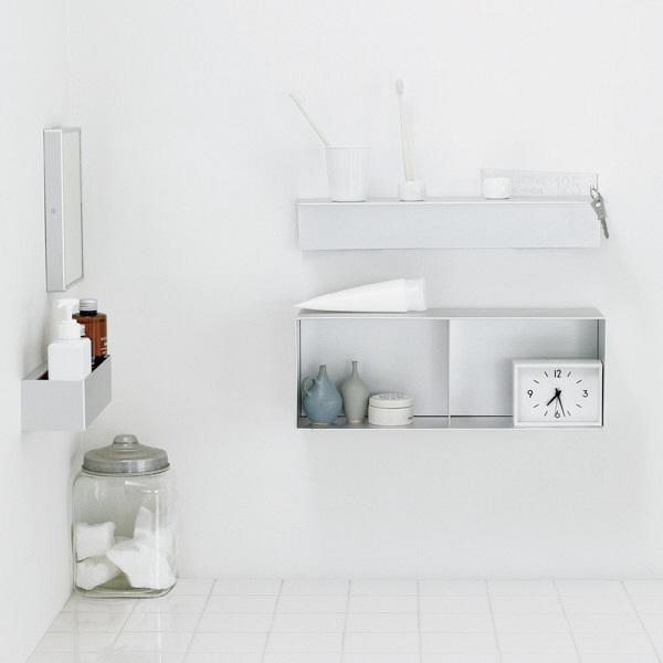 壁に付けられる家具・アルミ・ミラー
