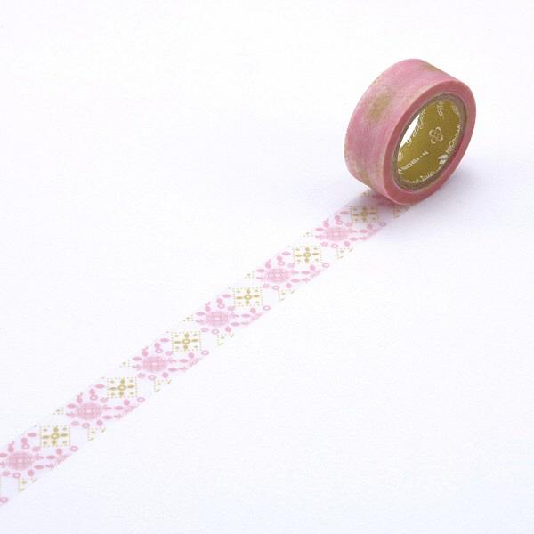 柄付きメンディングテープ ピンク