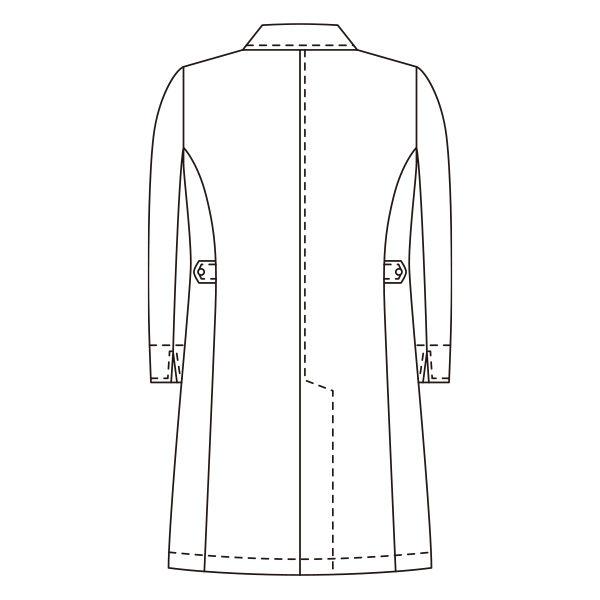 KAZEN レディスジップアップ診察衣(ハーフ丈) ドクターコート 医療白衣 長袖 ホワイト 3L 128-90 (直送品)