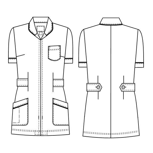 ナースジャケット HO1992 ホワイト EL (取寄品)
