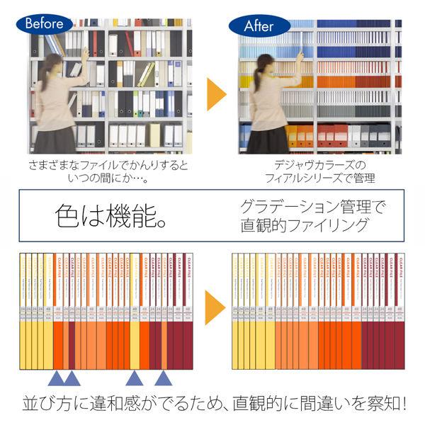 差替式クリアーファイル 赤12冊(取寄)