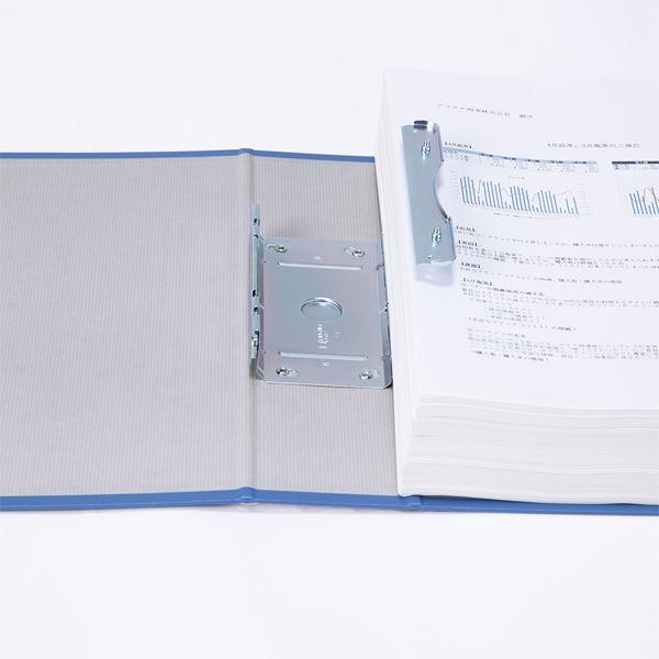 アスクル パイプ式ファイル片開き ベーシックカラー(2穴) A4タテ とじ厚60mm背幅76mm ブルー