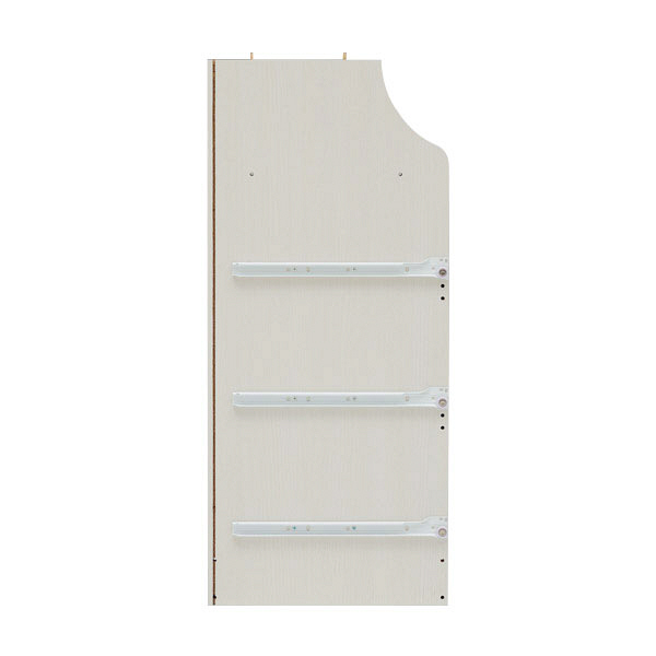 白井産業 組立簡単チェスト ホワイト 高さ133cm 幅28cm (直送品)