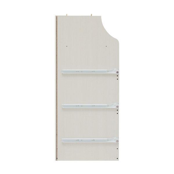 白井産業 組立簡単チェスト ホワイト 高さ133cm 幅75cm (直送品)