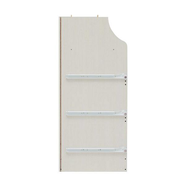 白井産業 組立簡単チェスト ホワイト 高さ91cm 幅44cm (直送品)