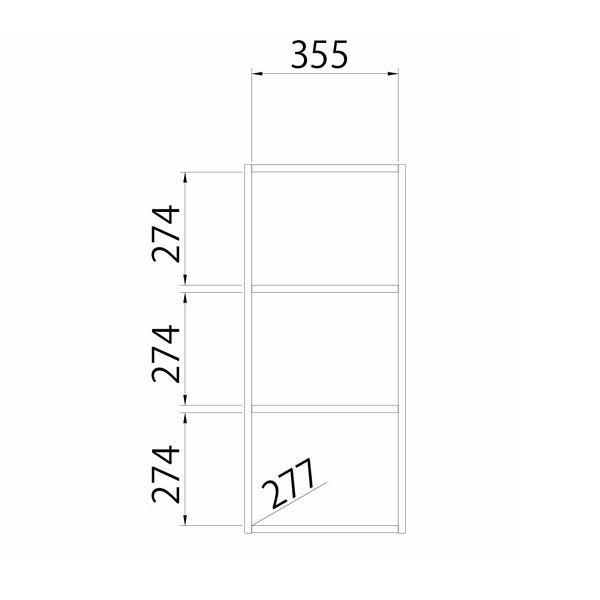 収納ボックス(猫柄)3ドア パープル