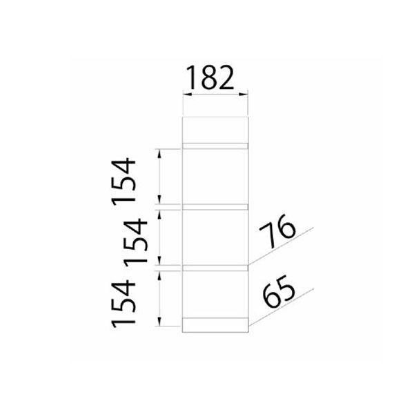 壁掛け4段ラック