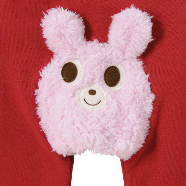 ベビーパンツ  赤×白  80cm