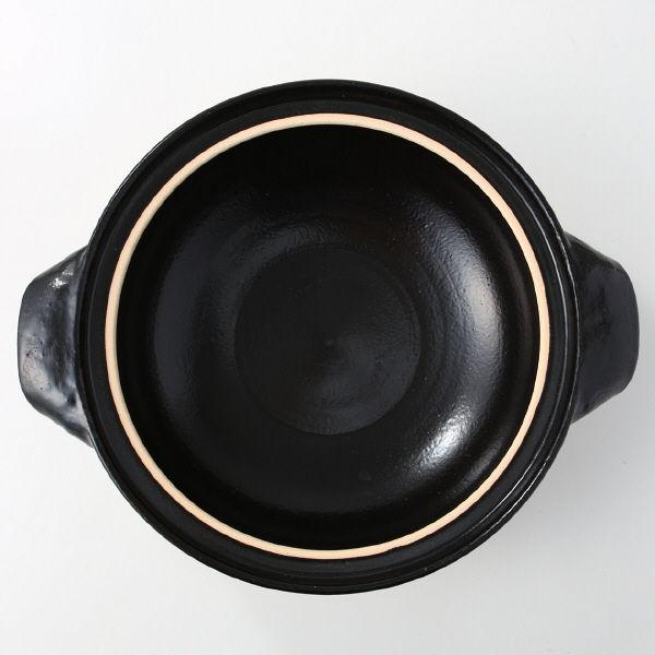 伊賀焼土鍋・黒釉 3~5人用