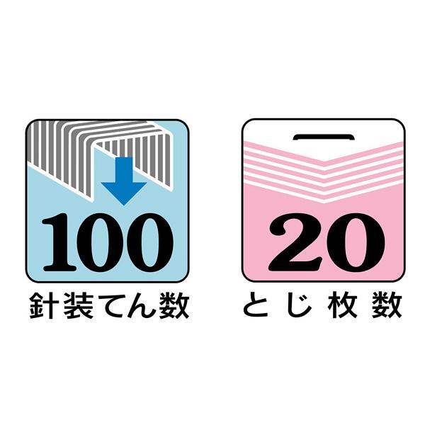 マックス ホッチキス イエロ HD90048 2個(直送品)