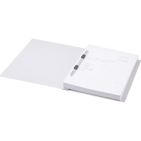 アスクル フラットファイル A4タテ エコノミータイプ 3冊 グレー