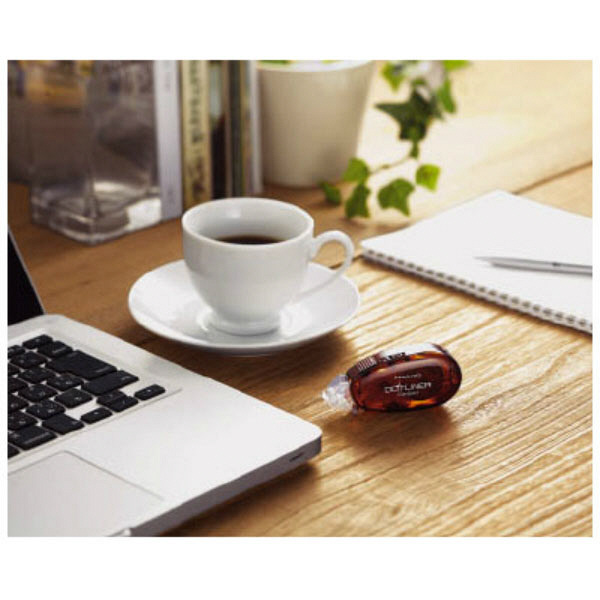 テープのり ドットライナーコンパクト 茶