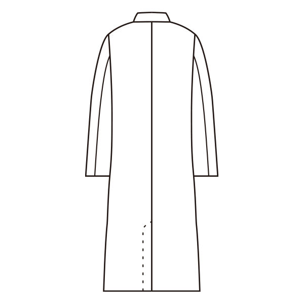 男子長袖診察衣(シングル)ホワイト LL
