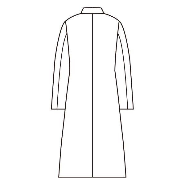 女子長袖診察衣(ダブル) ホワイト S