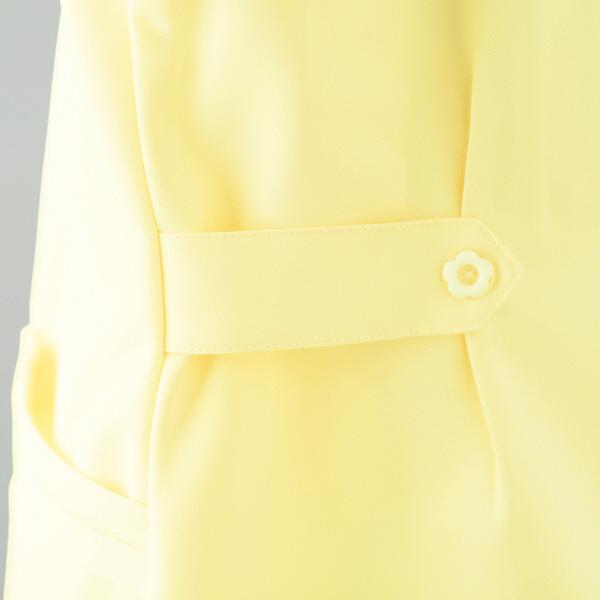 AITOZ(アイトス) オープンネックチュニック(ナースジャケット) 半袖 ホワイト L 861369-001