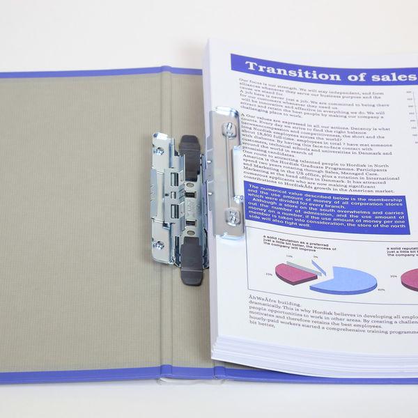 キングファイル スーパードッチ 脱着イージー A4タテ とじ厚20mm グレー キングジム 両開きパイプファイル 2472Aクレ