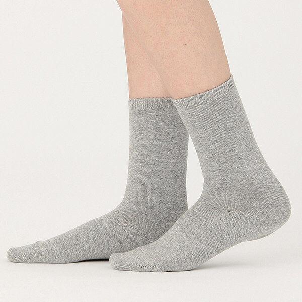 無印 足なり直角靴下 23-25 3足
