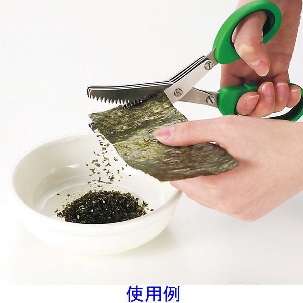 調理用はさみ もみ海苔ができます