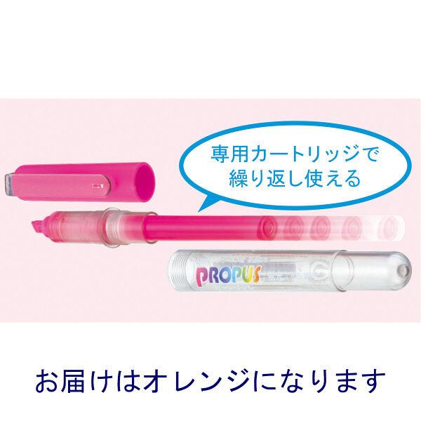 三菱鉛筆(uni) 蛍光ペン プロパス 橙 PUS155.4