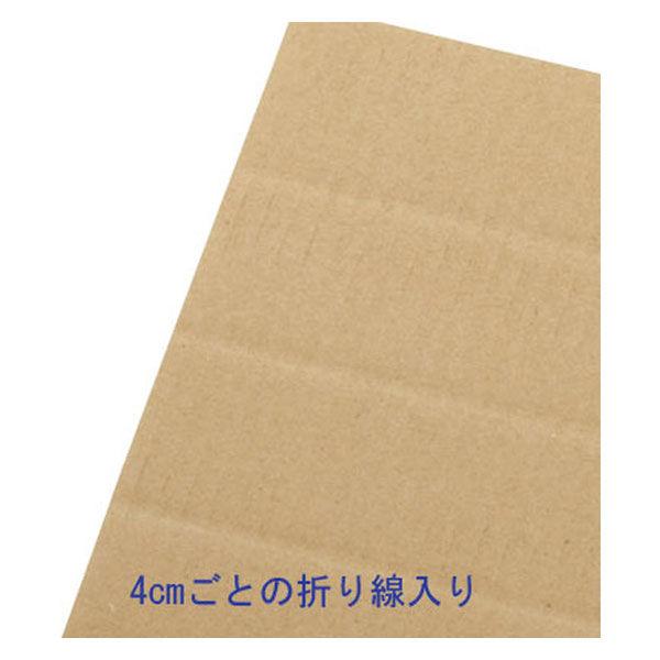 アスクル 容量可変ダンボール(深型宅配タイプ) B4×高さ145〜345mm 1セット(60枚:0枚×3梱包)