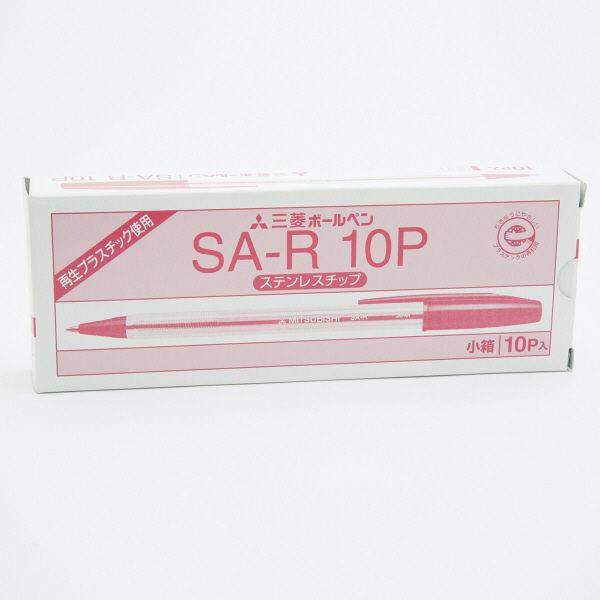 三菱鉛筆(uni) リサイクルボールペン SA-R 赤インク 1箱(10本入)