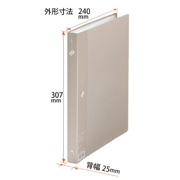 プラス スーパーエコノミークリアーファイル A4タテ 40ポケット グレー FC-124EL 88430 1箱(10冊入)