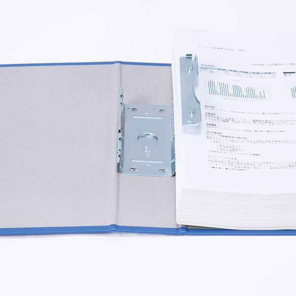 アスクル パイプ式ファイル片開き ベーシックカラー(2穴) A4タテ とじ厚50mm背幅66mm ブルー 10冊