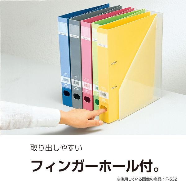 セキセイ ロックリングファイル D型2穴 A4タテ 背幅37mm グレー F-522-62 10冊