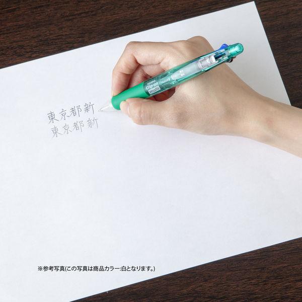 ゼブラ 多機能ペン クリップーオンマルチ500 透明軸 B4SA1 1セット(3本:1本×3)