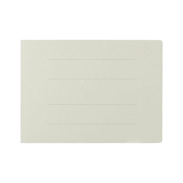 プラス フラットファイル樹脂製とじ具 A4ヨコ グレー No.022N 100冊