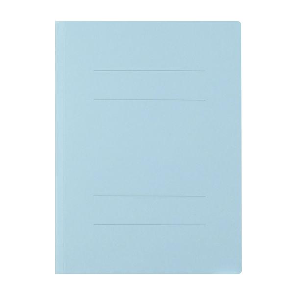 プラス フラットファイル厚とじ A4タテ 100冊 ロイヤルブルー No.021NW 樹脂製とじ具