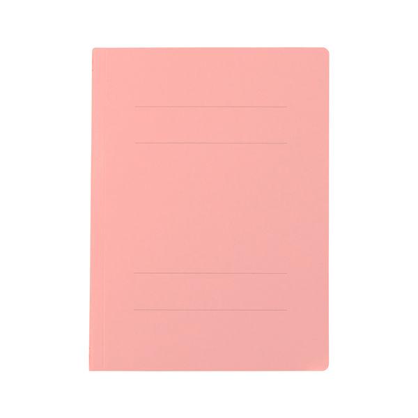 プラス フラットファイル樹脂製とじ具 B5タテ ピンク No.031N 100冊