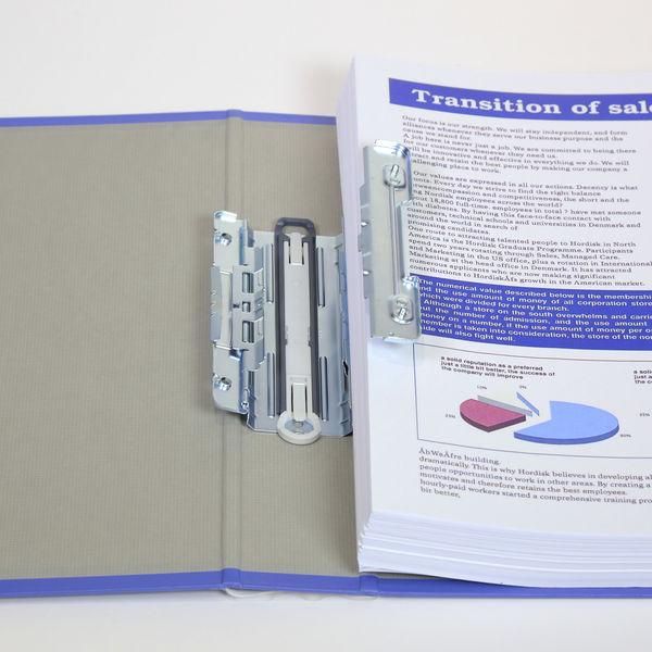 キングファイル スーパードッチ 脱着イージー A4タテ とじ厚40mm 青 10冊 キングジム 両開きパイプファイル 2474Aアオ