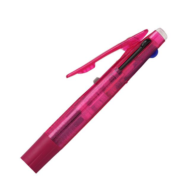 ゲルインク3色ボールペン サラサ 青軸