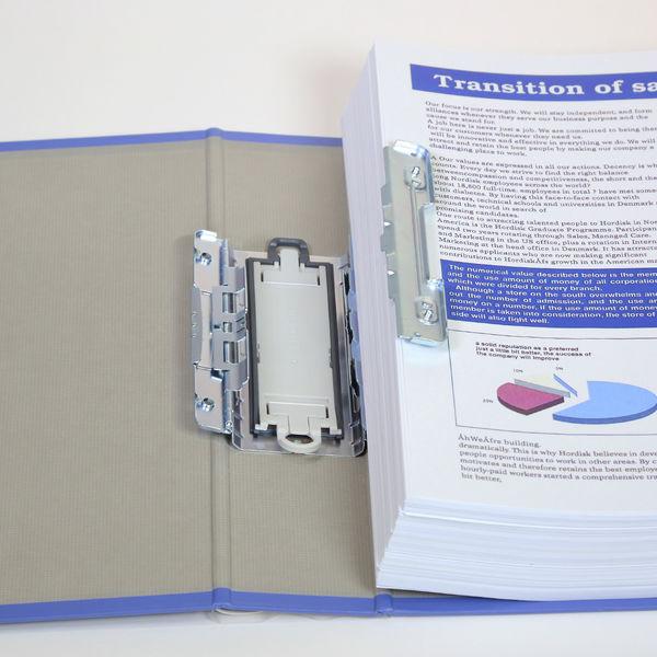 キングファイル スーパードッチ 脱着イージー B6ヨコ とじ厚50mm 青 キングジム 両開きパイプファイル 2425Aアオ